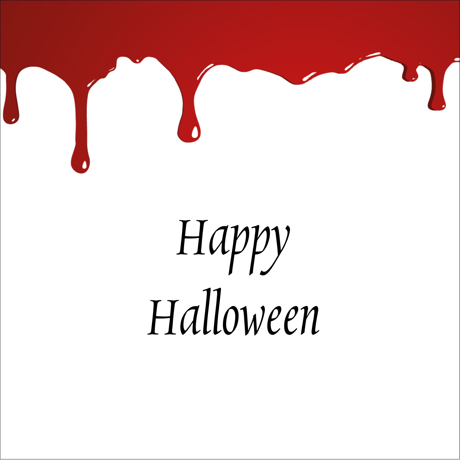"2"" x 2"" Square Label - Bloody Halloween"