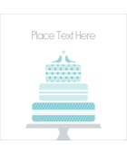 Add sweet elegance to projects with pre-designed Blue Wedding Cake Bird Toppers templates.