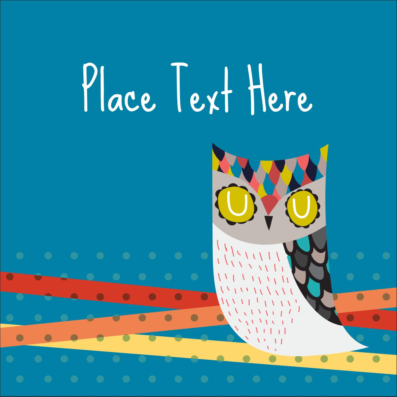 "2"" x 2"" Square Label - Artful Owl"