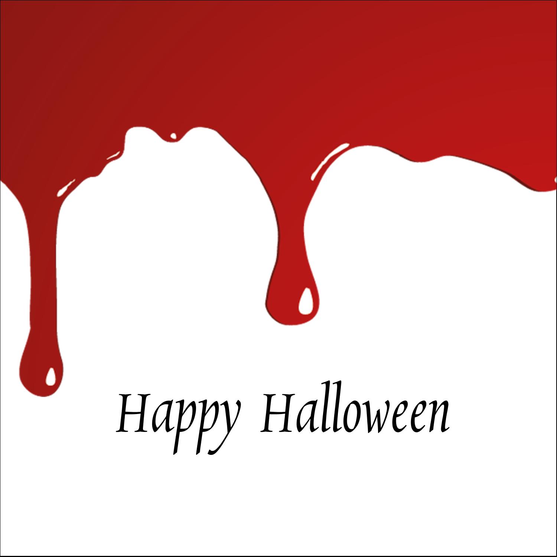 "2"" x 2"" Sqaure Label - Bloody Halloween"
