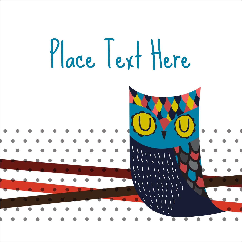 """2"""" x 2"""" Sqaure Label - Artful Owl"""