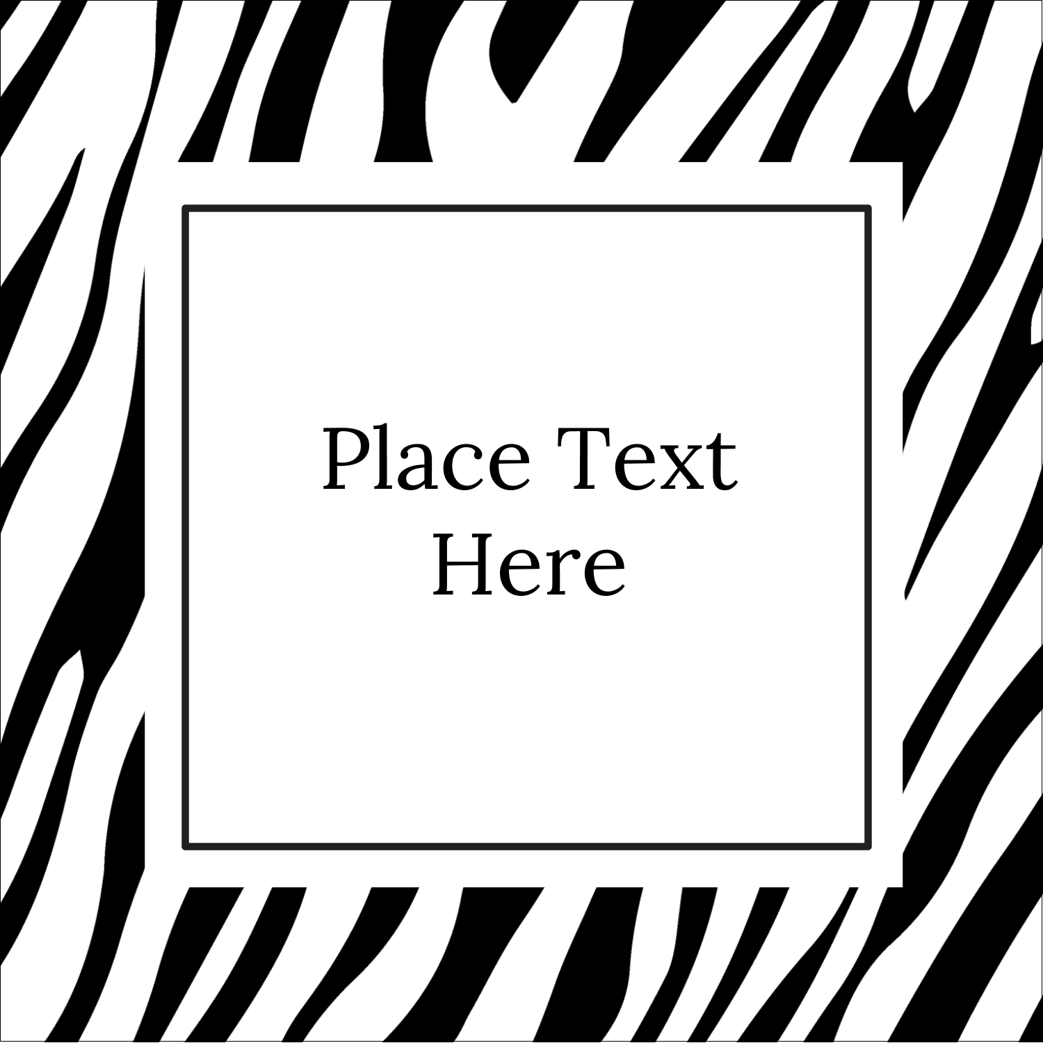 "2"" x 2"" Sqaure Label - Animal Prints"
