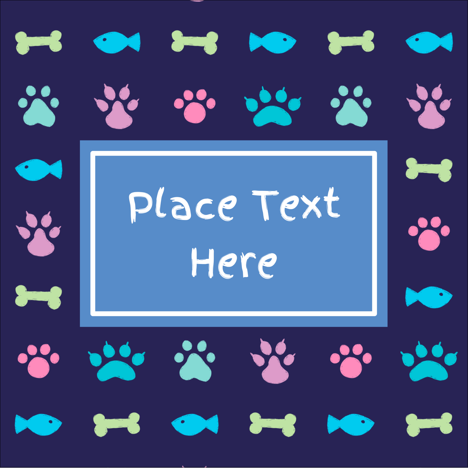 "2"" x 2"" Sqaure Label - Furry Friends"