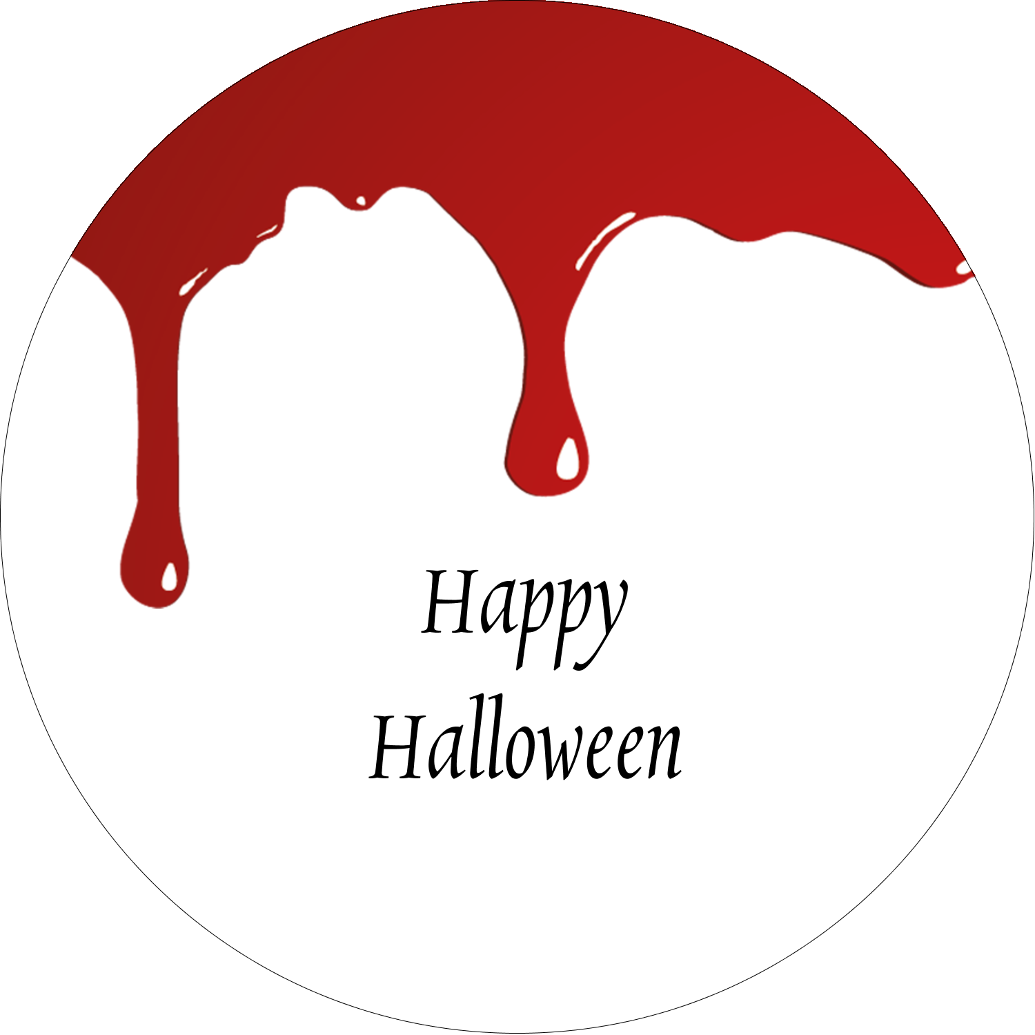 "2"" Round Label - Bloody Halloween"