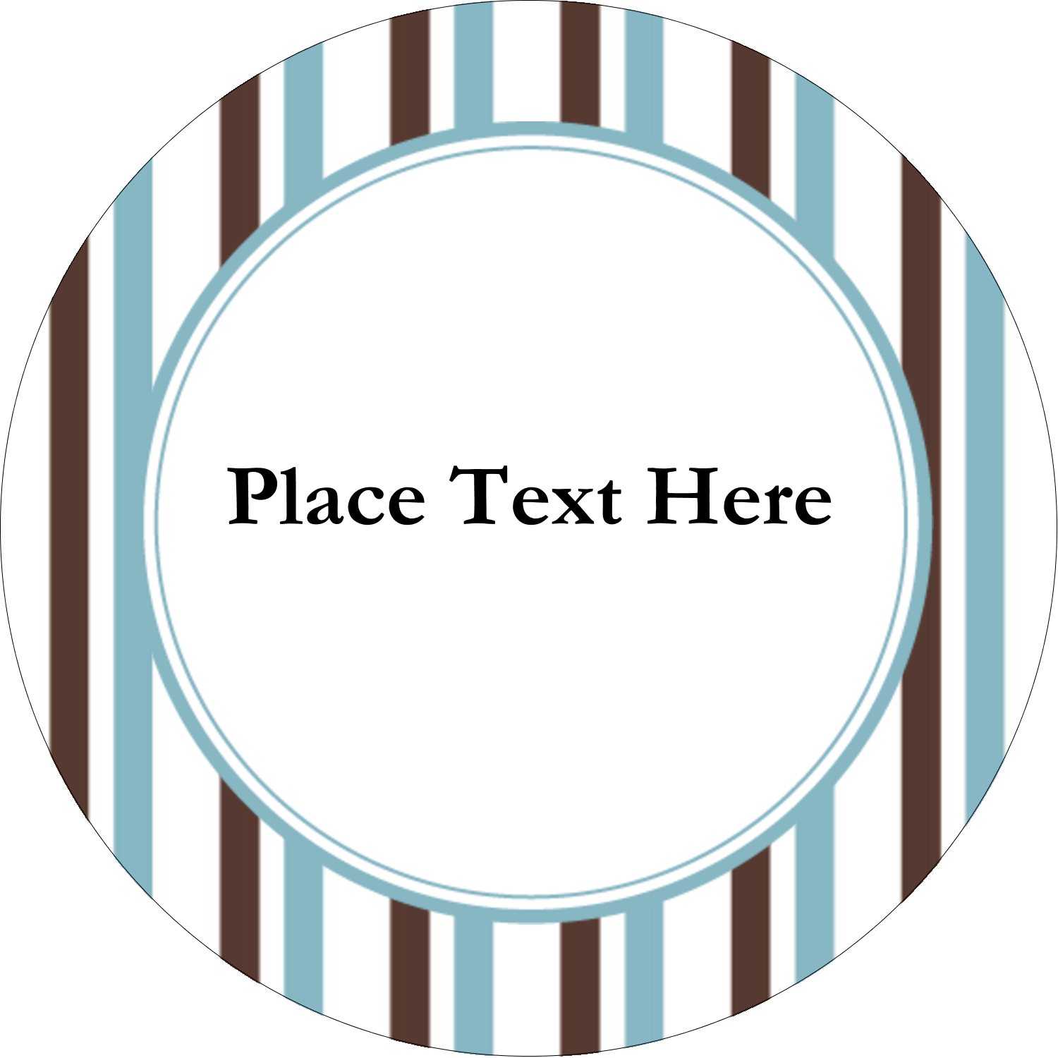 "2"" Round Label - Blue Stripes"