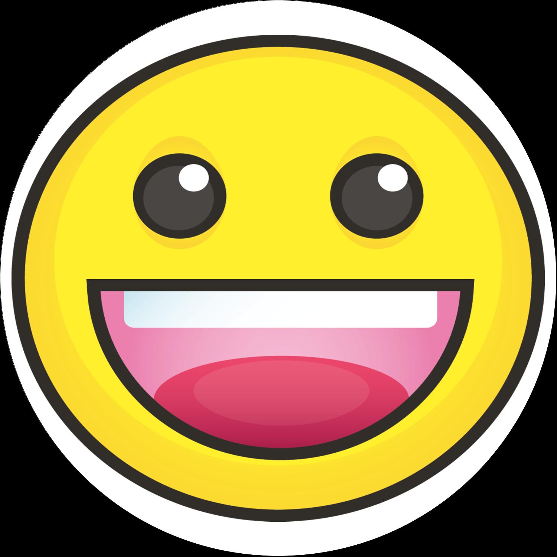 """2"""" Round Label - Emoji Faces"""