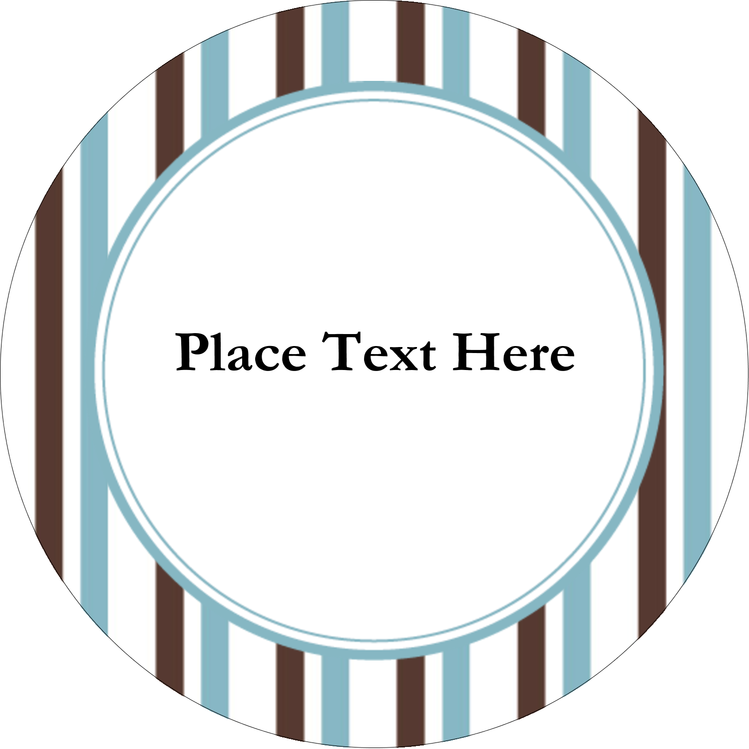 "2½"" Round Label - Blue Stripes"