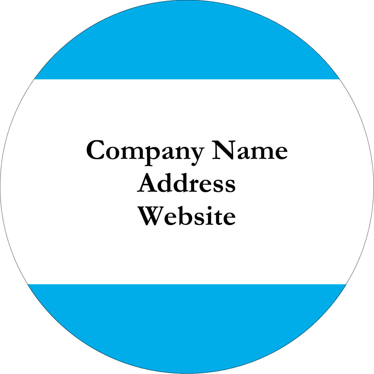 "2½"" Round Label - Blue Bar"