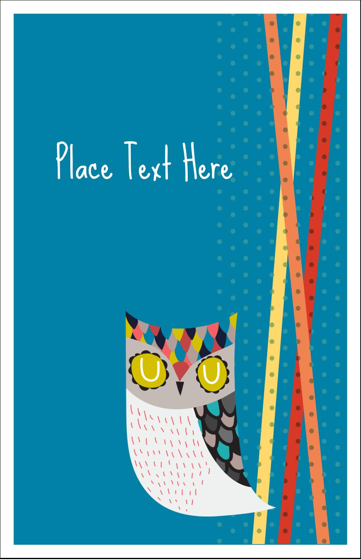 "8½"" Binder Insert x 5½"" Mini Binder - Artful Owl"