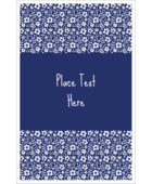 Add natural charm to your project with pre-designed Small Floral Blue templates.