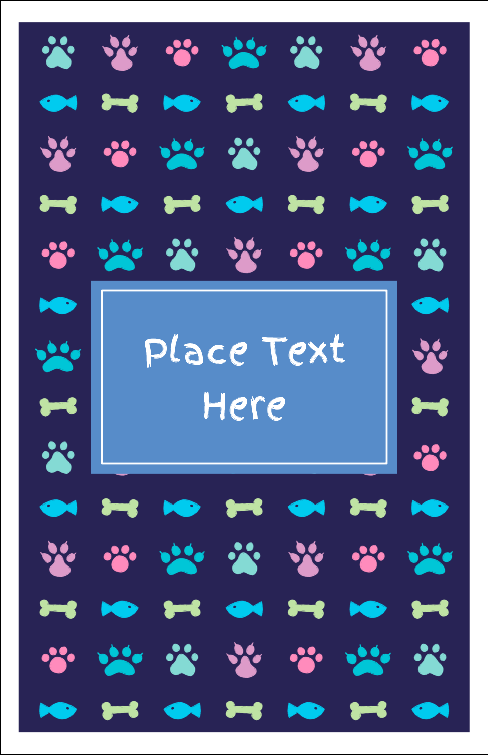 "8½"" Binder Insert x 5½"" Mini Binder - Furry Friends"