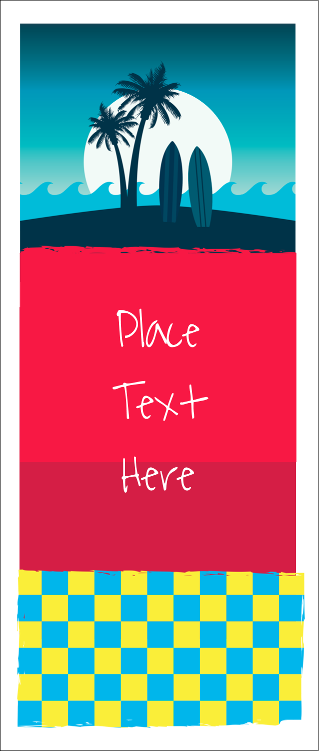 """1¾"""" x 5½"""" Printable Tickets - Tropical Surf"""