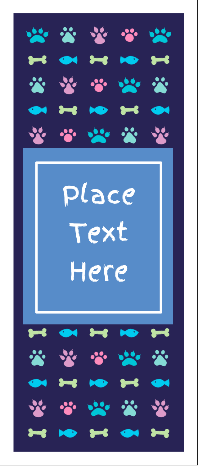 """1¾"""" x 5½"""" Printable Tickets - Furry Friends"""