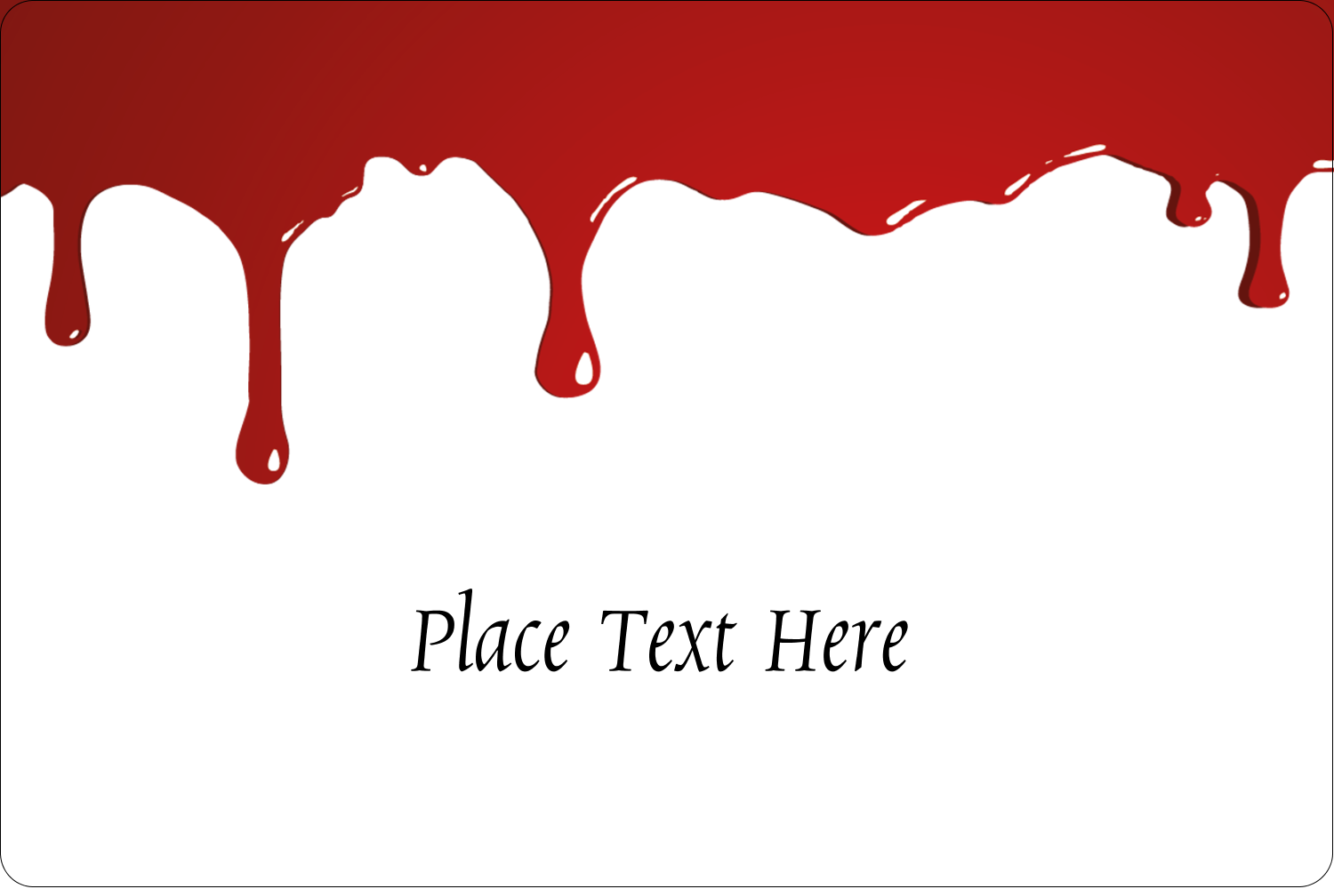 "2"" x 3"" Rectangular Label - Bloody Halloween"