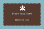 Add peaceful elegance to custom projects with pre-designed Blue Brown Border templates.