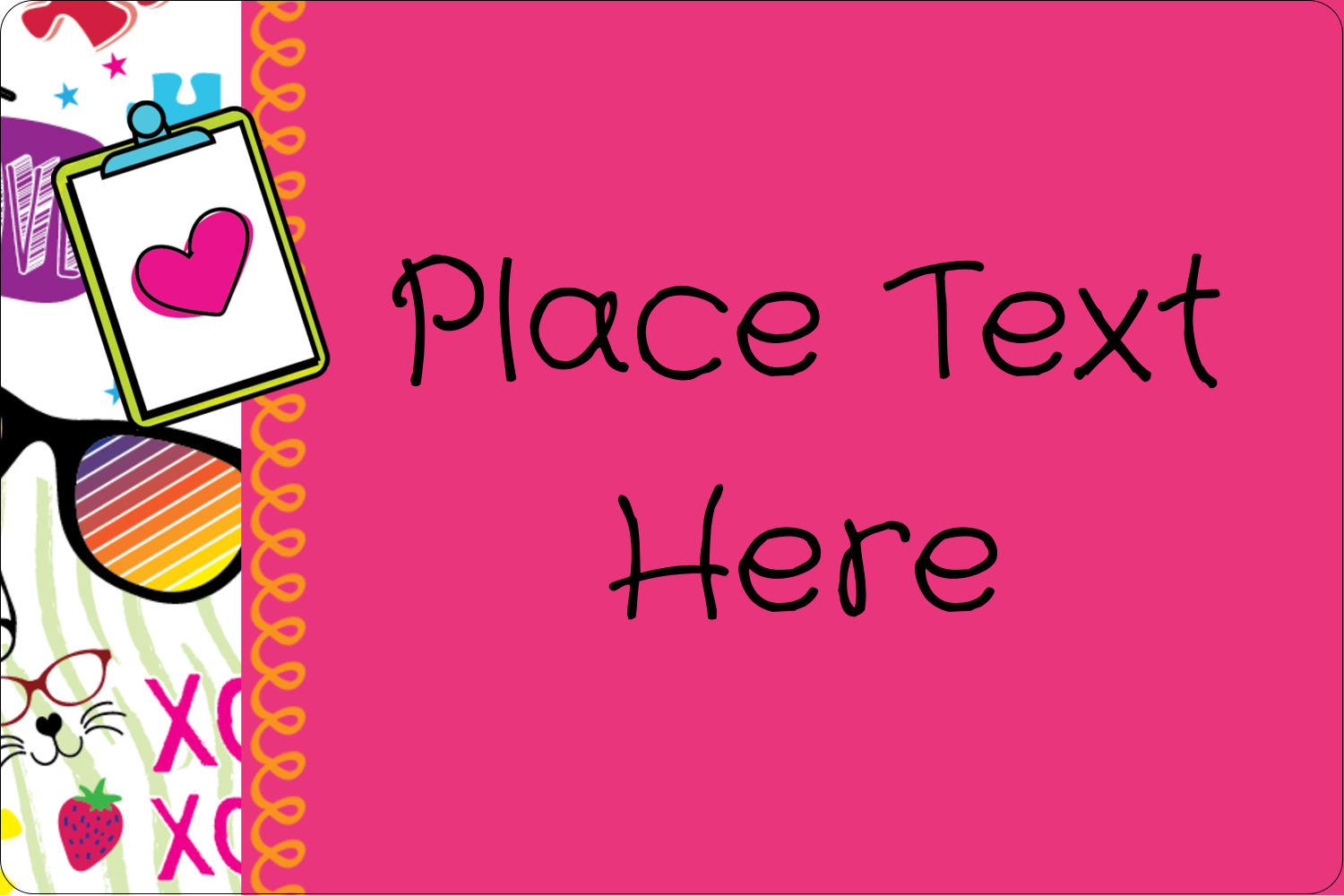"2"" x 3"" Rectangular Label - Binder Doodles"