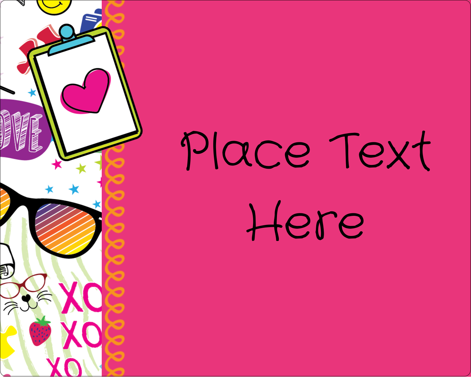 "3"" x 3¾"" Rectangular Label - Binder Doodles"