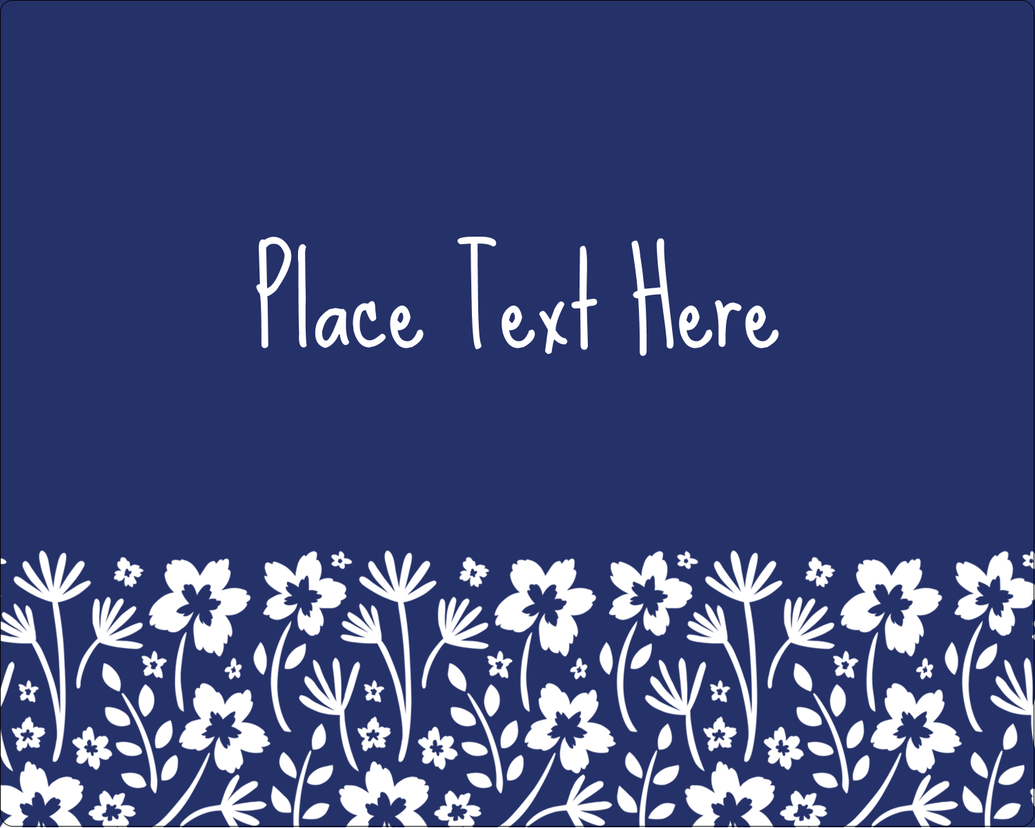 "3"" x 3¾"" Rectangular Label - Small Floral Blue"