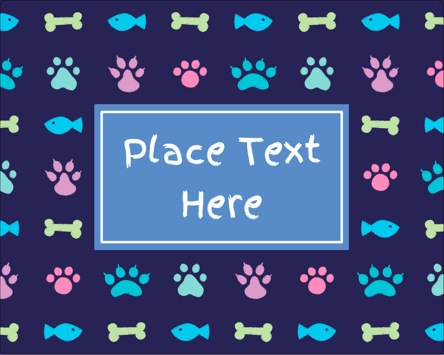"3"" x 3¾"" Rectangular Label - Furry Friends"