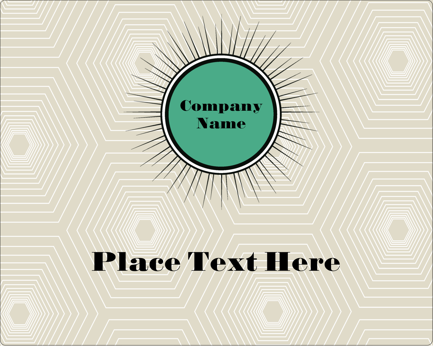 "3"" x 3¾"" Rectangular Label - Burst Green"