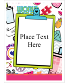 Bring youthful charm to your project with printable pre-designed Binder Doodles templates.