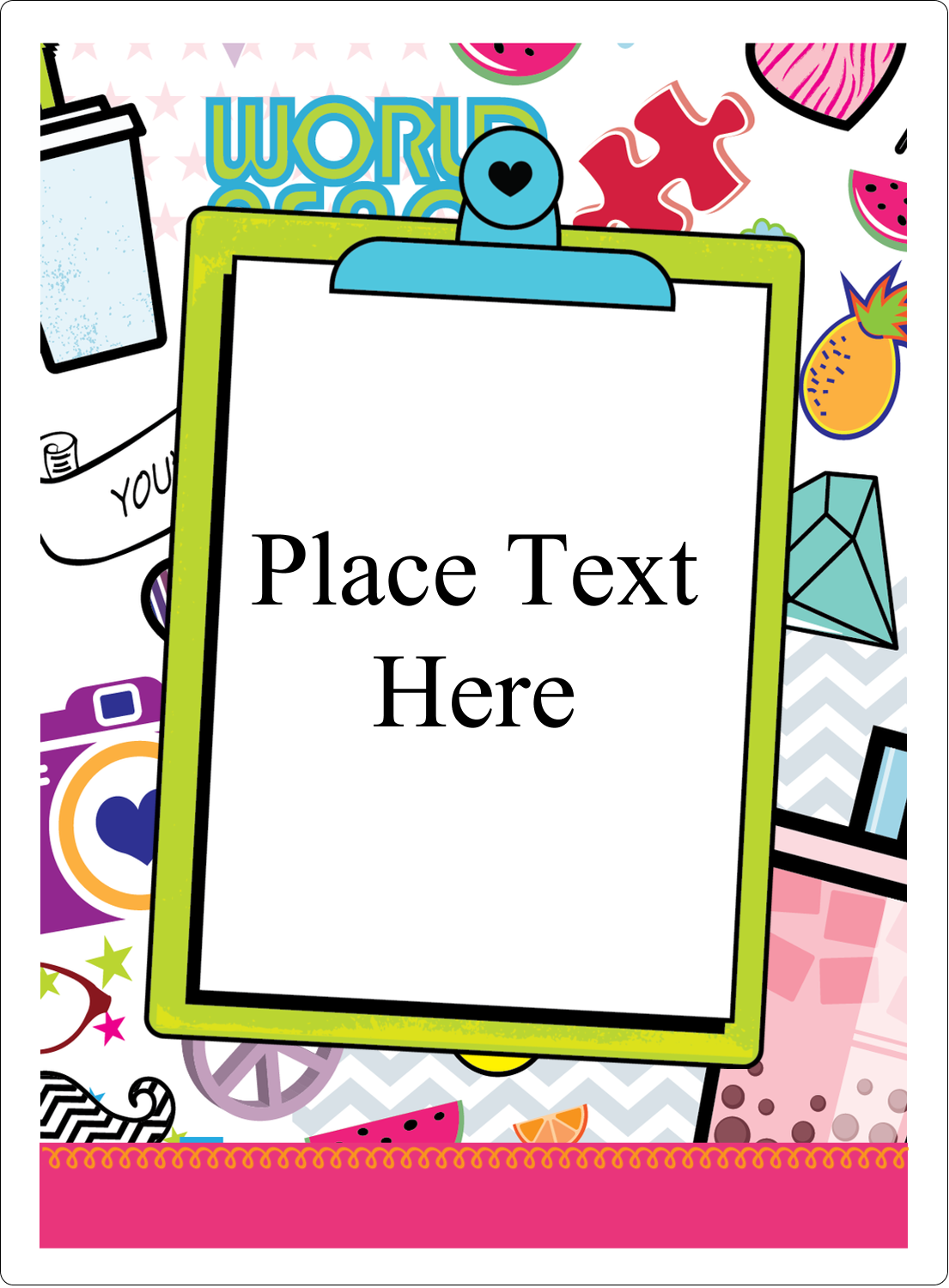 "4¾"" x 3½"" Rectangular Label - Binder Doodles"