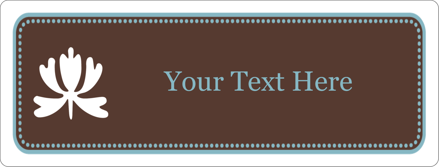 "½"" x 1¾"" Address Label - Blue Brown Border"