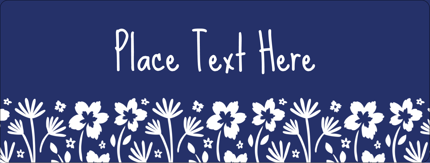 "½"" x 1¾"" Address Label - Small Floral Blue"