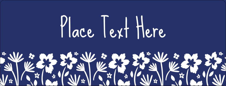 "½"" x 1¾"" Address Label - Small Floral Blue"