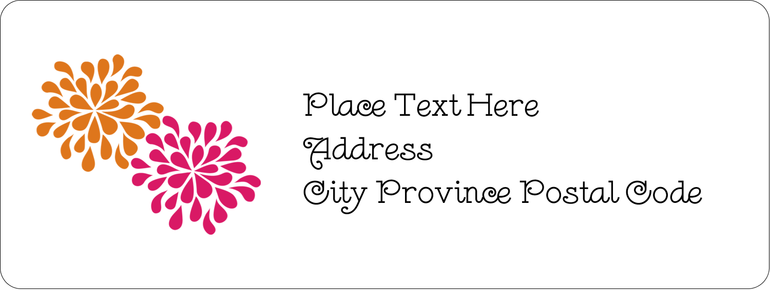 "⅔"" x 1¾"" Address Label - Bridal Shower Pink Orange"
