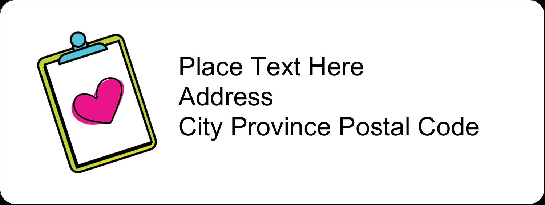 """⅔"""" x 1¾"""" Address Label - Binder Doodles"""