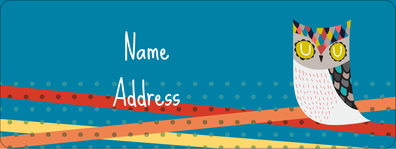 "⅔"" x 1¾"" Address Label - Artful Owl"