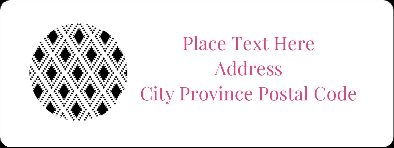 "⅔"" x 1¾"" Address Label - Decorative Damask"