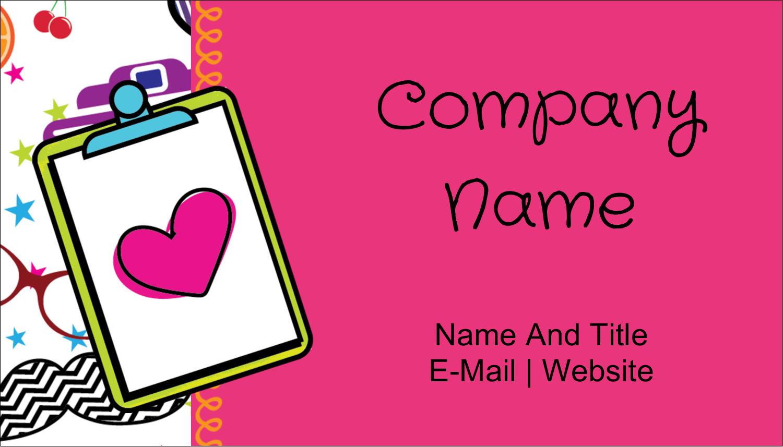 "2"" x 3½"" Business Card - Binder Doodles"