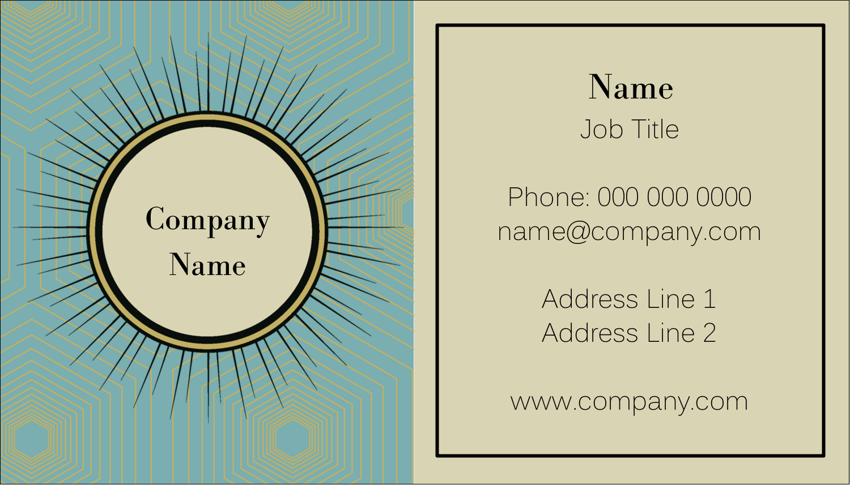 "2"" x 3½"" Business Card - Burst Tan"