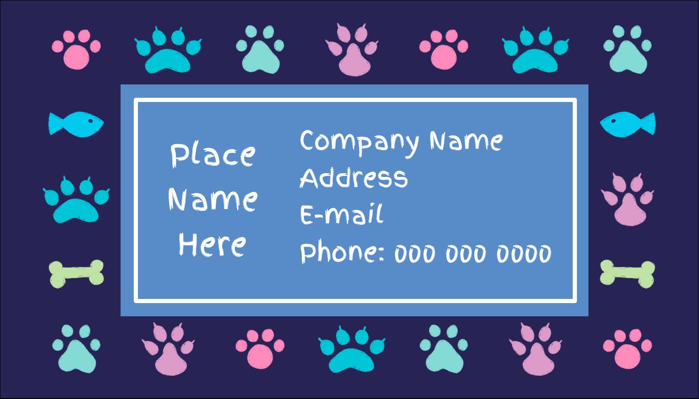 "2"" x 3½"" Business Card - Furry Friends"