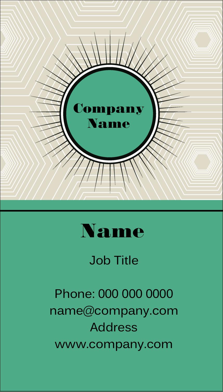 """3½"""" x 2"""" Business Card - Burst Green"""