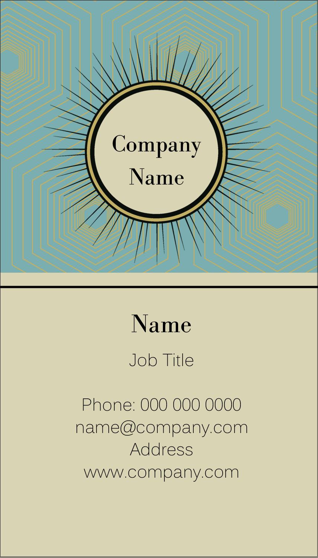 "3½"" x 2"" Business Card - Burst Tan"