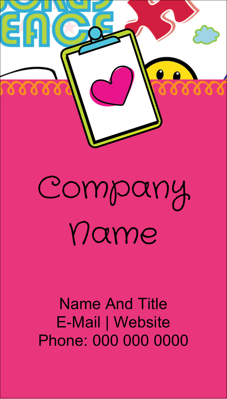 "3½"" x 2"" Business Card - Binder Doodles"