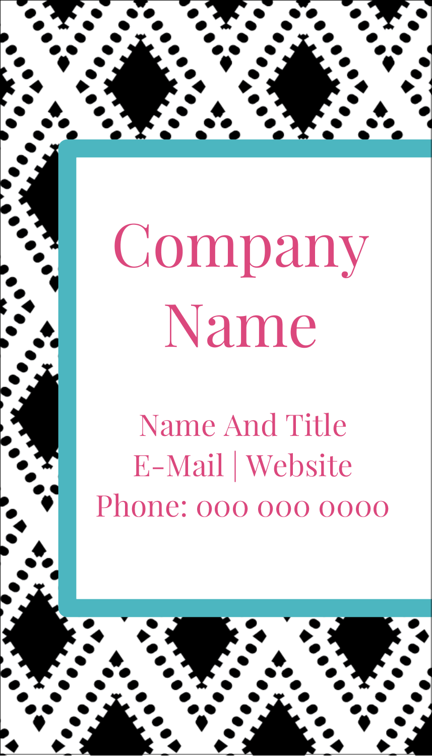 "3½"" x 2"" Business Card - Decorative Damask"