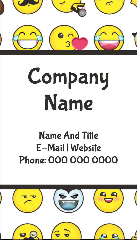 "3½"" x 2"" Business Card - Emoji Faces"