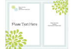 Bring simple beauty to custom projects with pre-designed Blue Green Blooms templates.