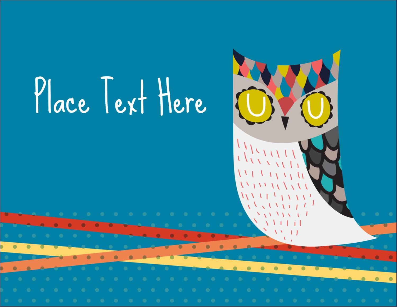 "4¼"" x 5½"" Postcard - Artful Owl"