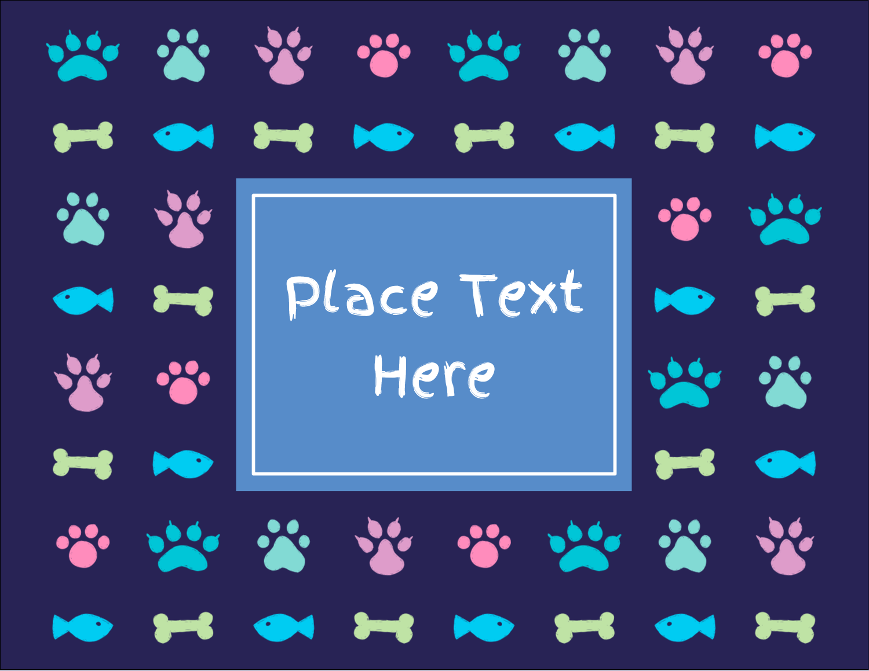 """4¼"""" x 5½"""" Postcard - Furry Friends"""
