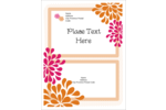 Add natural beauty to projects with pre-designed Bridal Shower Pink Orange templates.