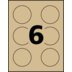Avery<sup>®</sup> Kraft Brown Round Labels - Avery<sup>®</sup> Kraft Brown Round Labels