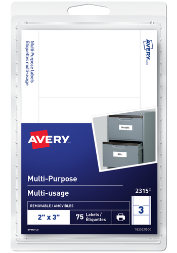 Avery<sup>®</sup> Multi-Purpose Removable Labels - Avery<sup>®</sup> Multi-Purpose Removable Labels
