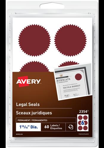 Avery<sup>®</sup> Sceaux juridiques - Avery<sup>®</sup> Sceaux juridiques