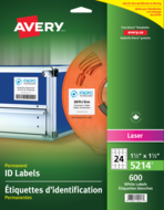 Avery<sup>&reg;</sup> Permanent ID Labels 5214