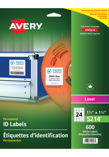 Avery<sup>®</sup> Permanent ID Labels - Avery<sup>®</sup> Permanent ID Labels